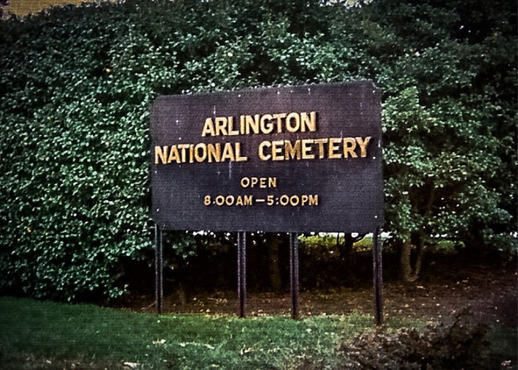 In 1864, Arlington Estate, former family home of Mary Lee, wife of Confederate General Robert E. Lee, was seized by the U.S. government and its lands put to use as a national military cemetery.