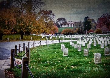 Poor Union soldiers were among the first to be buried outside Arlington House, former home of Confederate General Robert E. Lee.